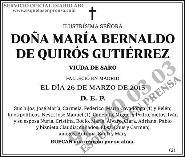 María Bernaldo de Quirós Gutiérrez
